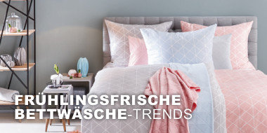 Frühlingsfrische Bettwäsche-Trends