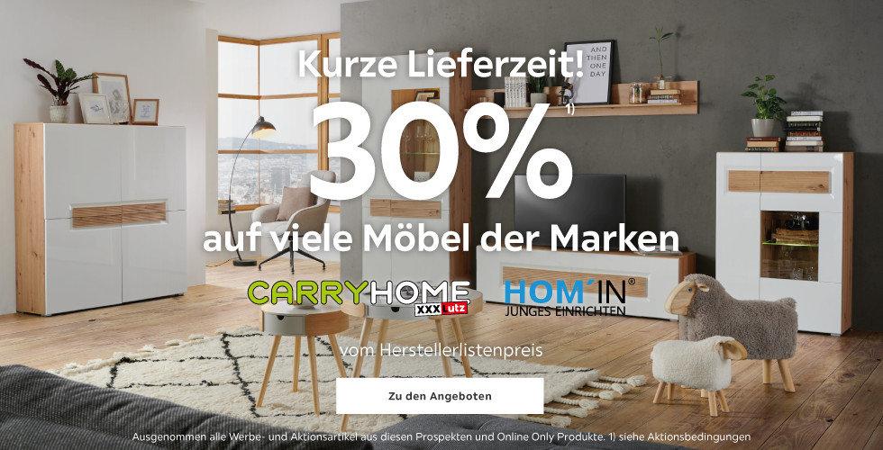 30%¹⁾ auf Möbel der Marken Carryhome und Hom'In