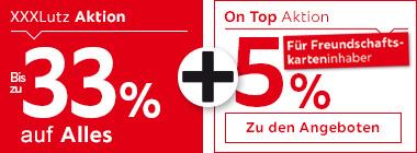 33% auf Alles + 5% für Freundschaftskarteninhaber