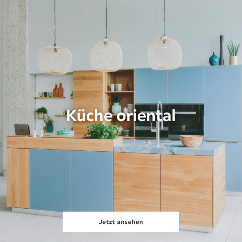 Küche oriental holz-blau
