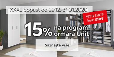15% na Unit ormare