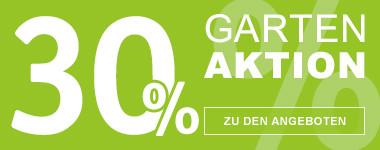 30% Gartenaktion