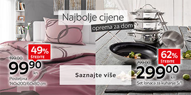 Ugodna posteljina za krevet i kvalitetan set posuđa za kuhanje Lesnina XXXL