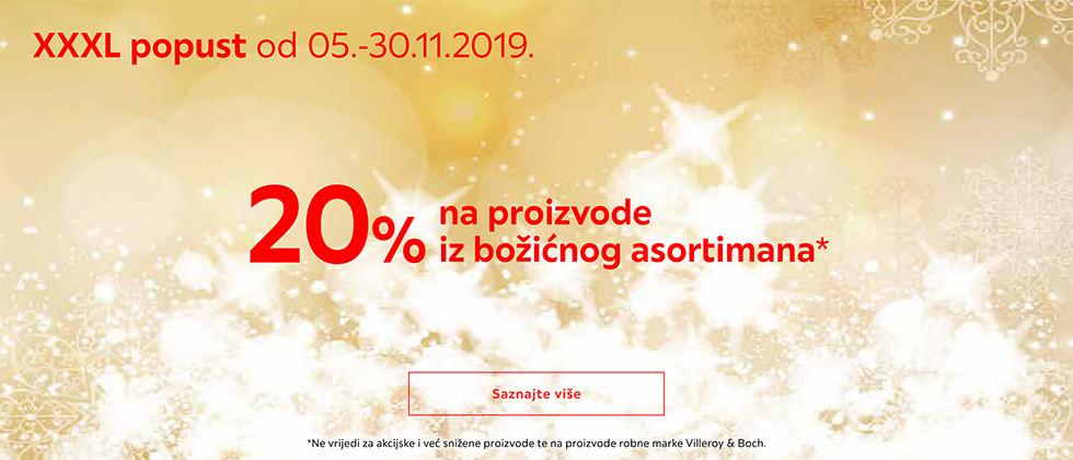 20% popusta na božićni asortiman u Lesnini