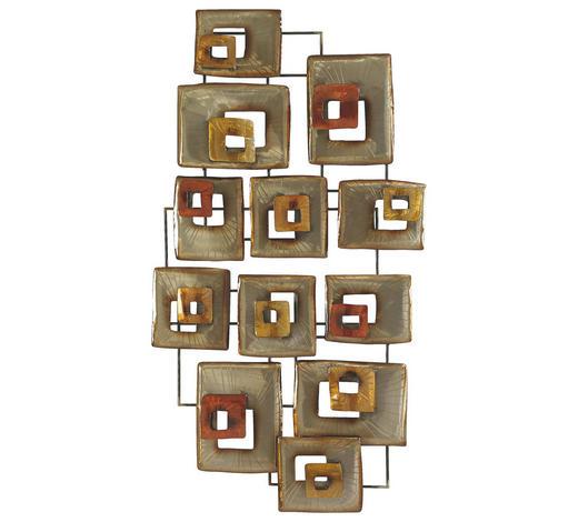 WANDDEKO - Gelb/Rot, Trend, Metall (135,5/7,5/72cm) - Ambia Home