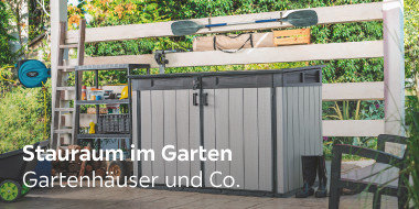 Stauraum in Garten  Gartenhäuser und Co.