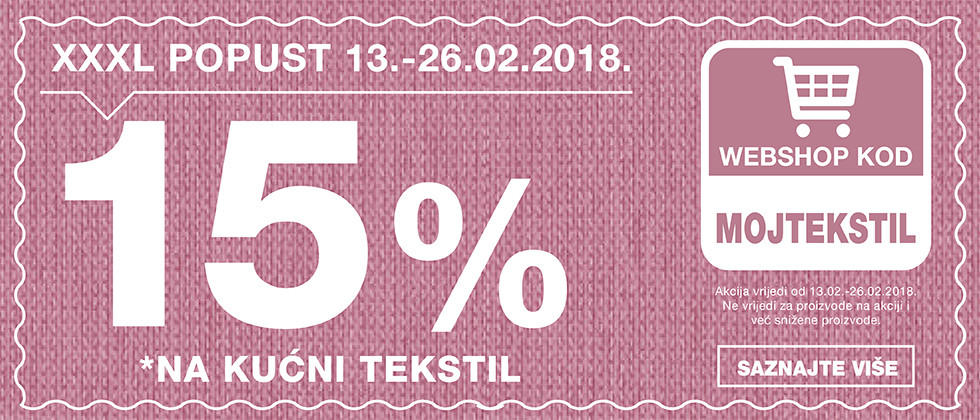 15% popusta na kućni tekstil u Lesnini