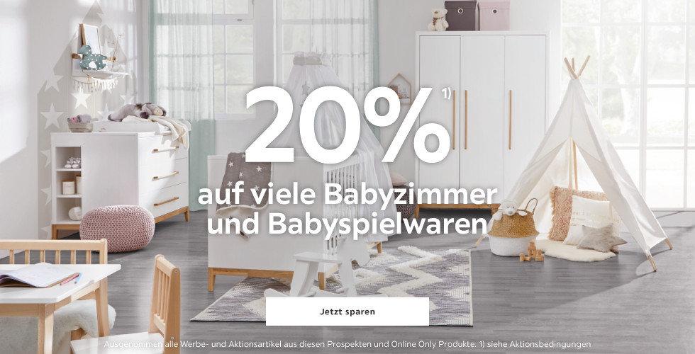 20% auf Babyzimmer und Babyspielwaren