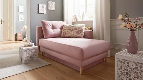 Tagesliege rosa gepolstert