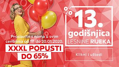 Proslavite s nama 13. godišnjicu Lesnine Rijeka