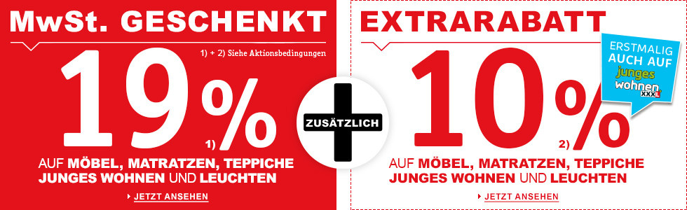 XXXL Mehrwertsteuer-Aktion