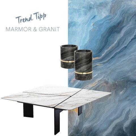 Trend Tipp Marmor Granit Blau Grau