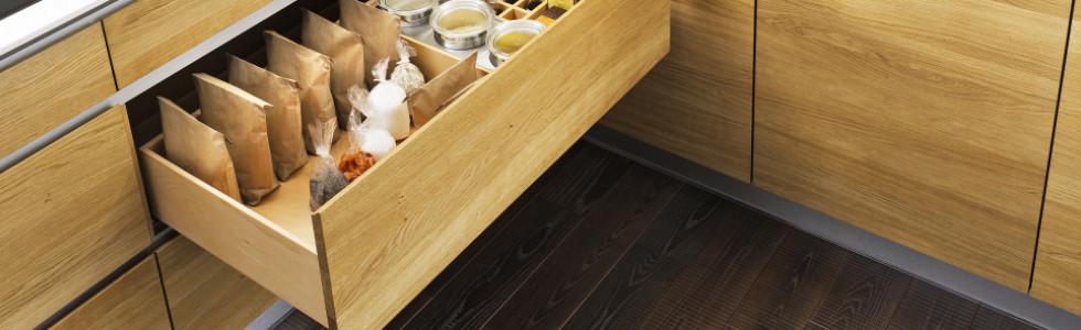 Küchenfronten Holz Schublade
