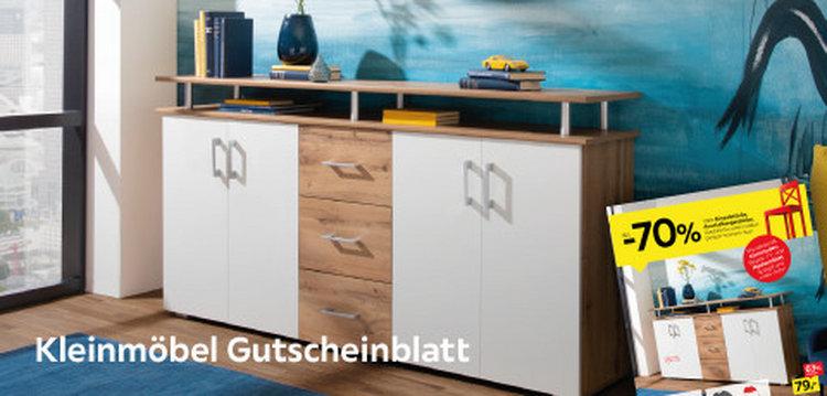 Kleinmöbel Gutscheinblatt
