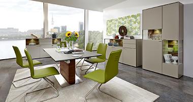 Venjakob Esszimmer Qualitätsmöbel Grüne Stühle
