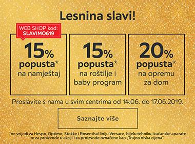 Proslavite s nama godišnjisu Lesnine Split uz popuste