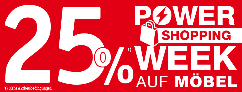 Powershopping Week - 25% Rabatt