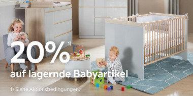 20% auf lagernde Babyartikel