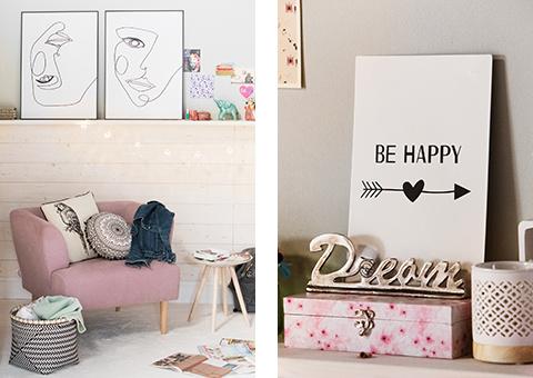 Jugendzimmer rosa weiß
