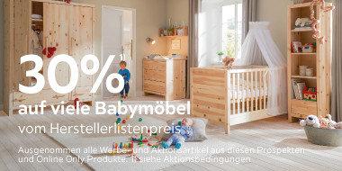 30% auf viele Babymöbel vom Herstellerlistenpreis