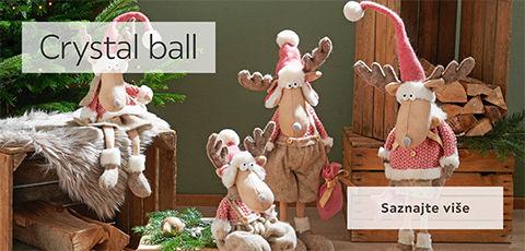 Crystal ball božićne dekoracije