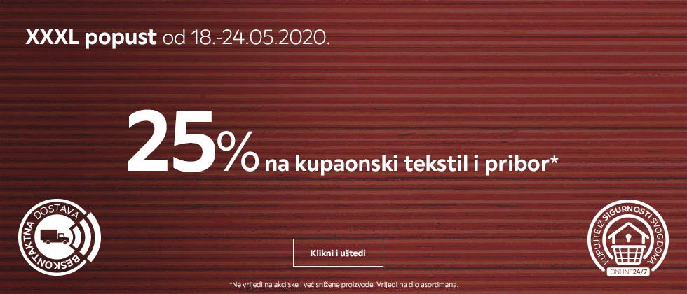 25% popusta na kupaonski tekstil i pribor