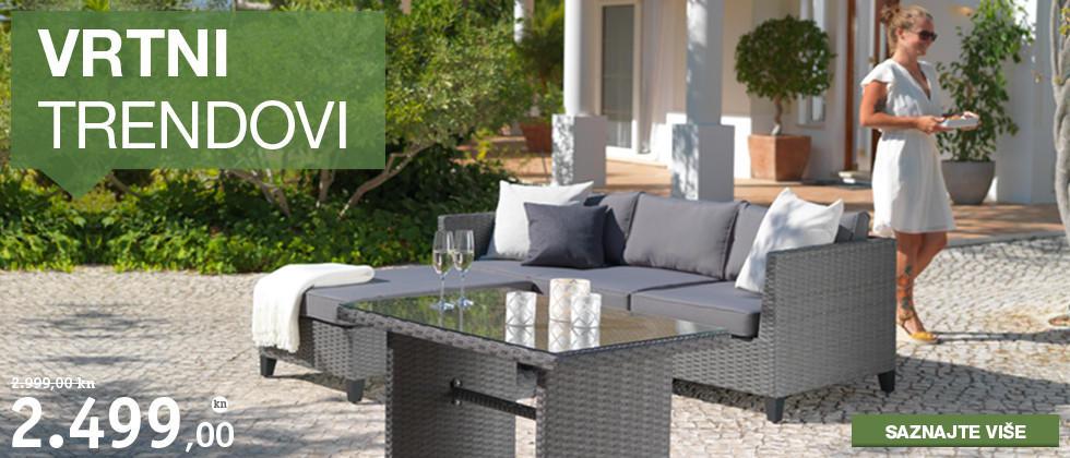 Moderna i kvalitetna siva vrtna garnitura Lesnina XXXL