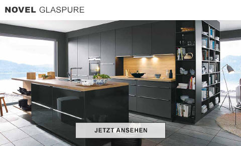 Uberlegen Novel Glaspure Küche Kochinsel Schwarz