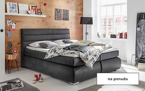 Crni boxspring krevet