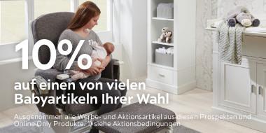 10% auf einen von vielen Babyartikeln Ihrer Wahl