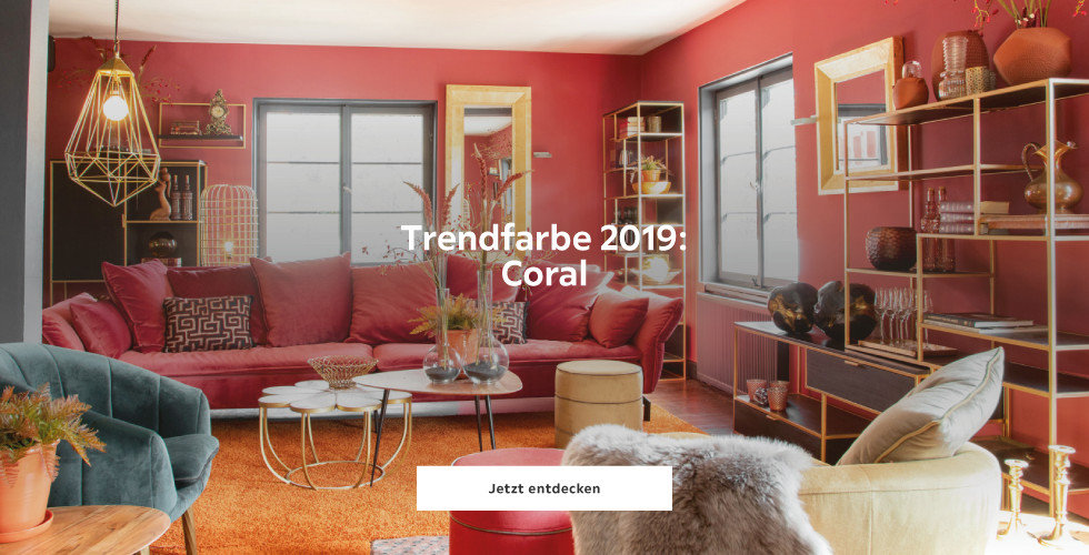 Trendfarbe 2019: Coral