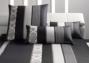 Bettwäsche schwarz grau weiß