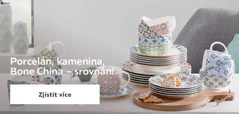 Porcelan, kamenina, Bone China - srovnani