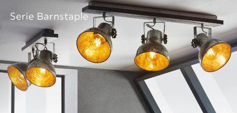 Leuchten Serie Barnstaple Grau Orange