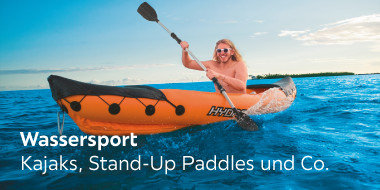 Wassersport  Kajaks, Stand-Up Paddles und Co.