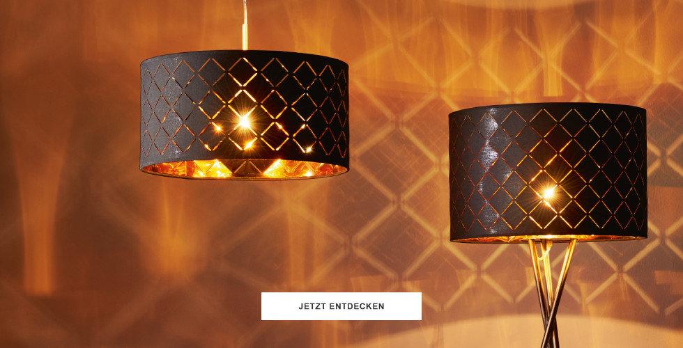 Leuchtentrend:  Edle Kontraste Schwarz & Gold