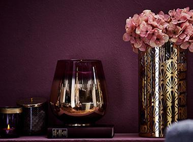 Razkošne vaze v zlati barvi