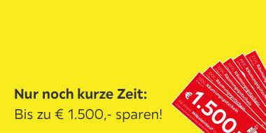 Nur noch kurze Zeit:  Räumungsgutscheine Bis zu 1.500 € beim Möbeleinkauf sparen!