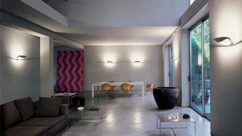 LED-Wandleuchten im Wohnzimmer