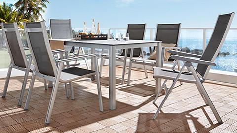 Gartentisch-Set aus Aluminium