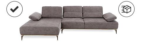 Sofa mit Icons links und rechts