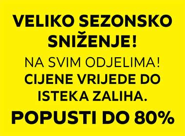 Veliko sezonsko sniženje na svim odjelima Lesnina XXXL