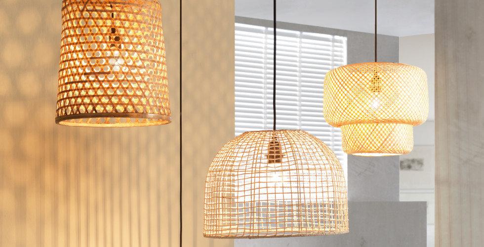 Leuchten mit Struktur Hängeleuchten Braun Gelb