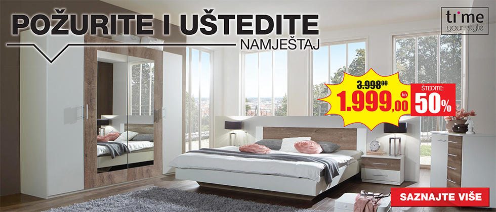 Elegantna spavaća soba XXXL Lesnina