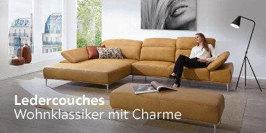 Ledercouches Wohnklassiker mit einzigartigem Charme