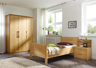 Ložnice z dubového dřeva.