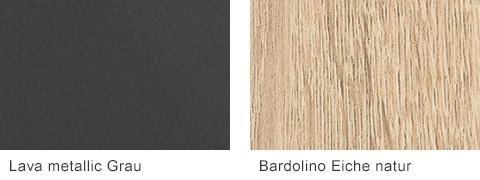 Set One by Musterring Elba Lava metallic Grau Bardolino Eiche natur