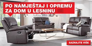 Sjedeća garnitura i fotelja od kože Lesnina XXXL