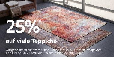 25% auf viele  Teppiche