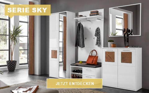 Garderobe Sky weiß